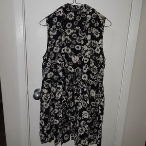 🌟🌟Womans Floral Suzy Shier Dress with Coller